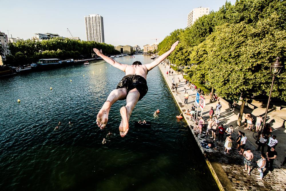 Un petit plouf dans la Seine ? - © Nicolas Rochette