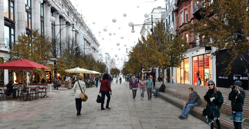 Oxford Street - Walkable London - Zaha Hadid Architects