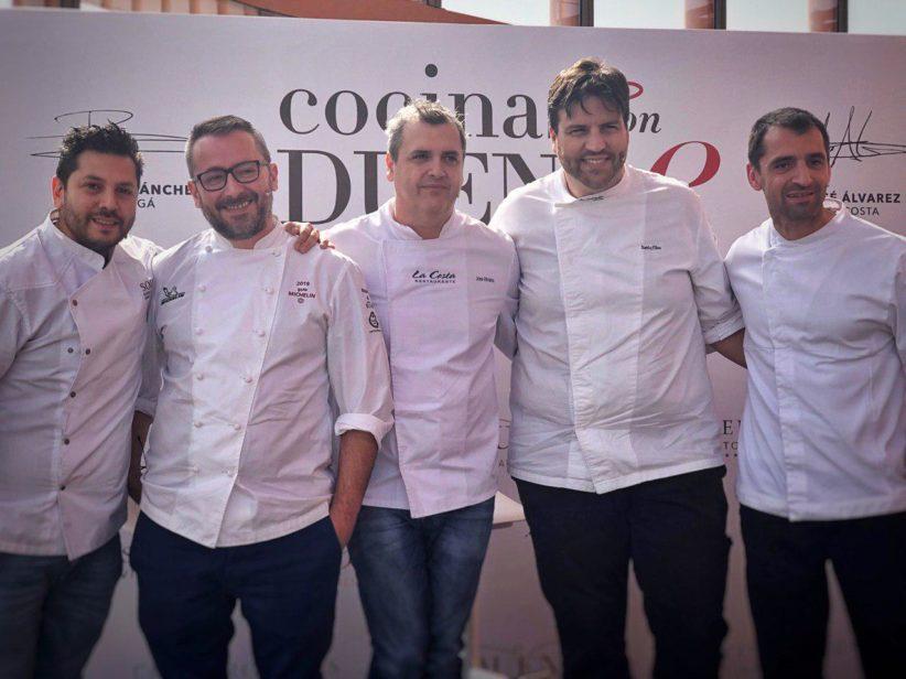 """Cocinas con duende: menú degustación con """"cinco estrellas Michelin"""" en el restaurante del Eurostars Torre Sevilla"""