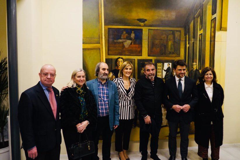 El pintor riojano Luis Burgos presenta su obra en Sevilla