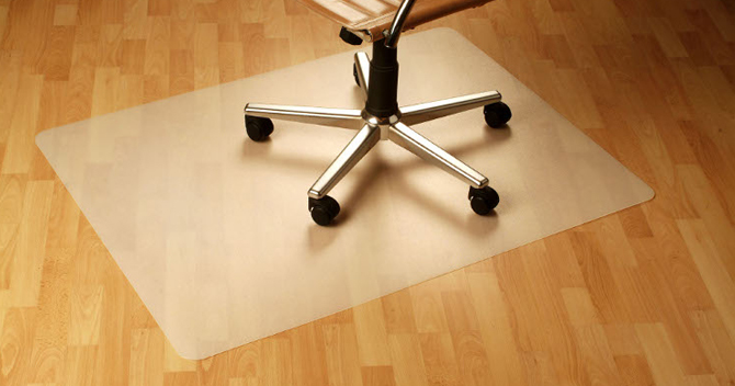 How Can I Protect a Hardwood Floor from a Rolling Office