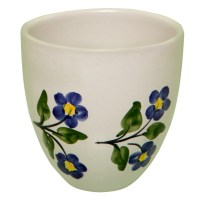 Pottery Mugs for Sale with Hand Painted Toile Flowers