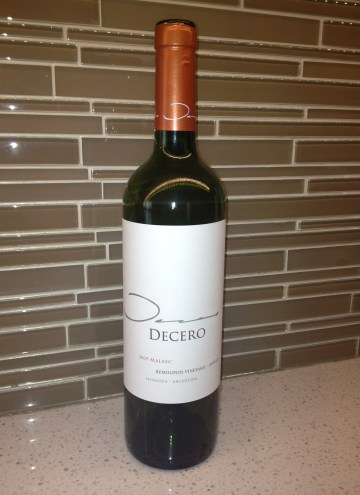 A South American Find….Decero Malbec