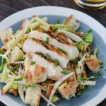 Cider Glazed Chicken with Panzanella Salad