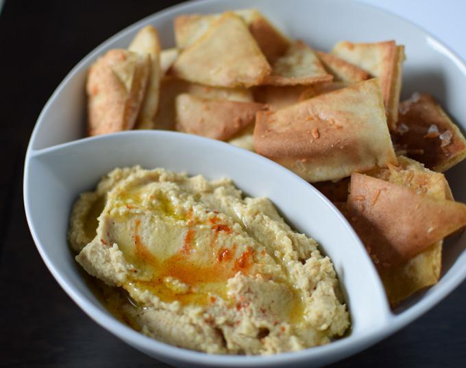 Hummus & Parmesan Pita Chips