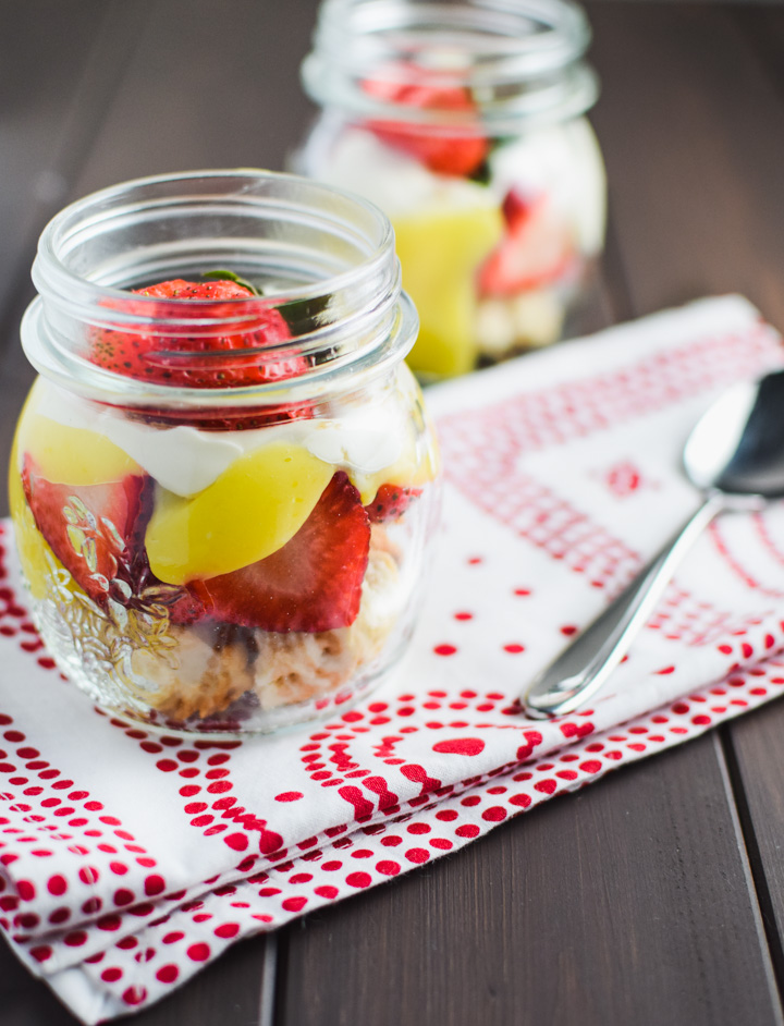 This Strawberry Shortcake in a mason jar is the perfect packable picnic or summer party dessert.