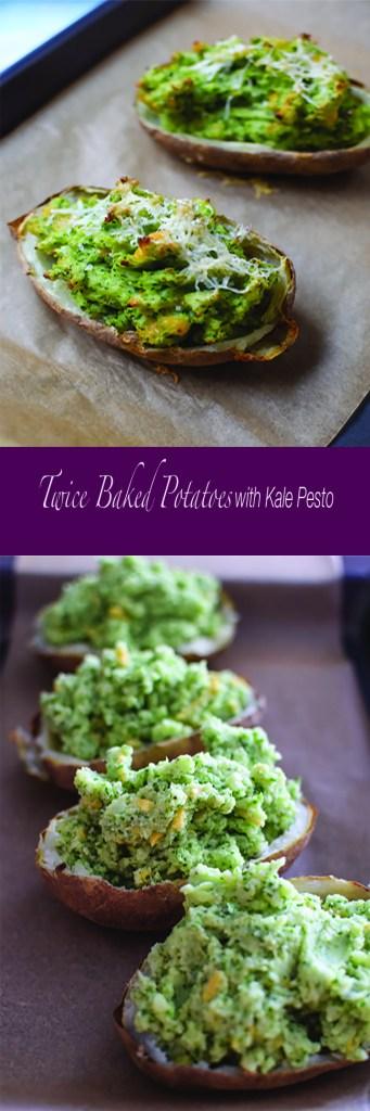 Twice Baked Potatoes with Kale Pesto