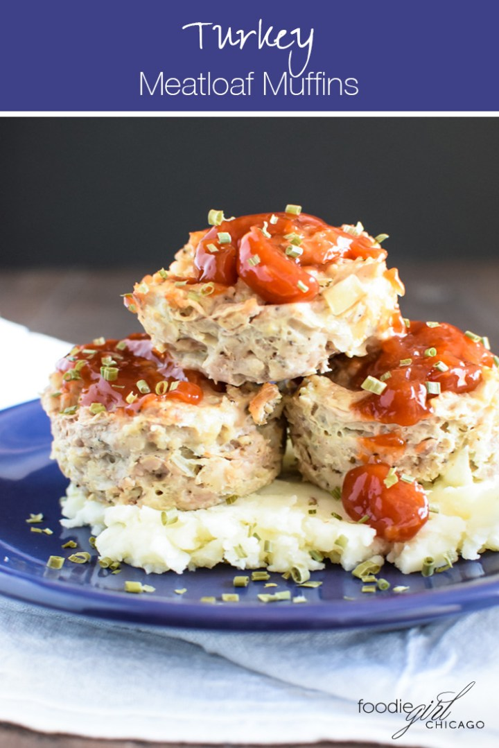 When you need an easy weeknight meal or a tasty packable lunch look no further than these turkey meatloaf muffins topped with a sweet chili ketchup glaze!