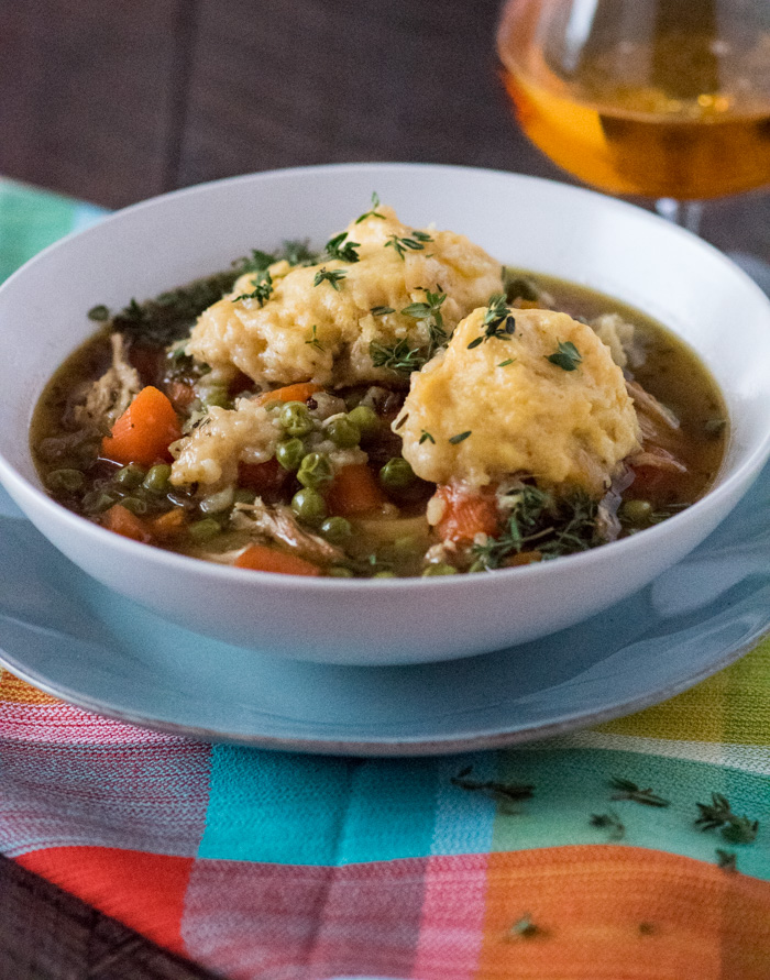 Hard Cider Chicken & Dumplings