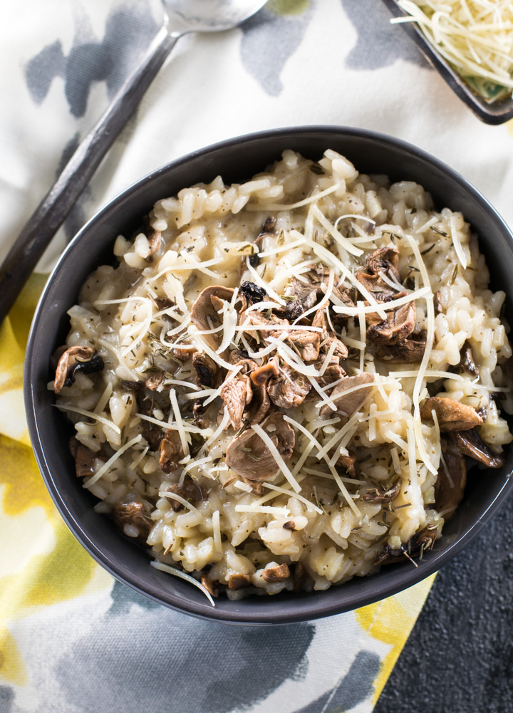 Mushroom Risotto with Truffle Oil