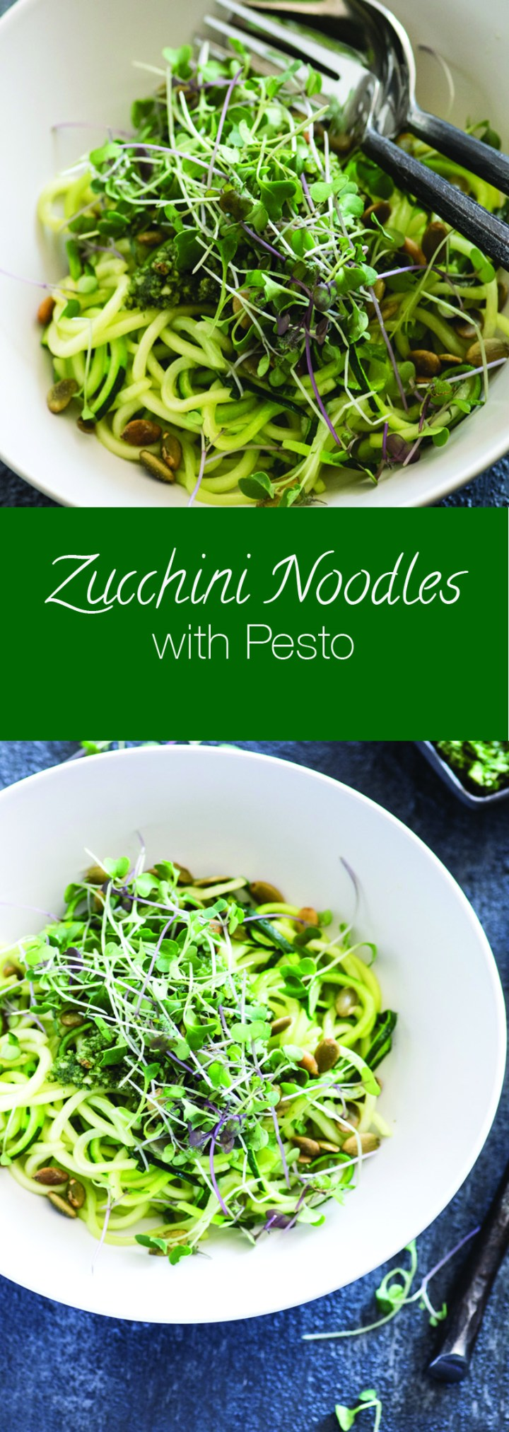 Zucchini Noodles with Almond Basil Pesto
