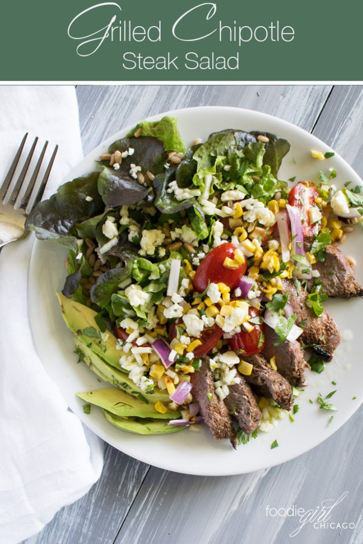 This salad is just brimming with flavor from the grilled corn, seasoned steak and lime vinaigrette making it the perfect summer meal!