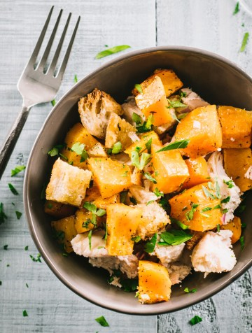 One-Pan Roasted Butternut Squash & Chicken Dinner