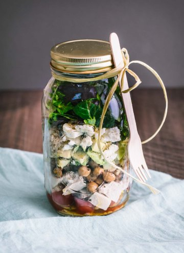 Quinoa Chopped Salad in a Jar