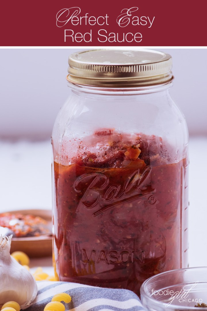 Perfect Easy Red Sauce