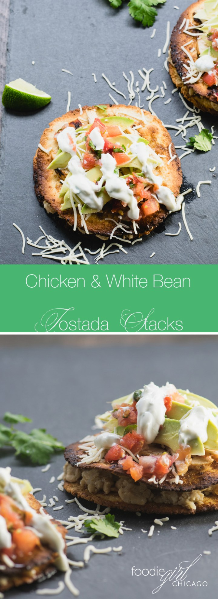 Chicken & White Bean Tostada Stacks