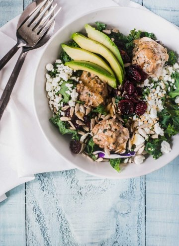 California Turkey Meatball Salad