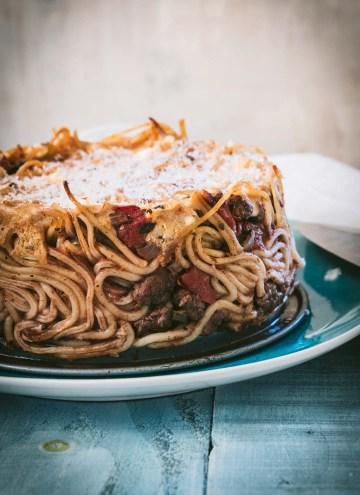 Mediterranean Spaghetti Pie