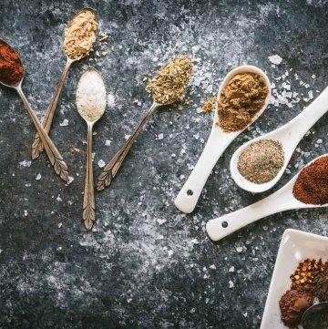 Taco Seasonings on small spoons