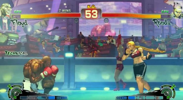 Modded Street Fighter Shows Ronda Rousey vs. Floyd Mayweather Modded Street Fighter Shows Ronda Rousey vs. Floyd Mayweather Modded Street Fighter Shows Ronda Rousey vs. Floyd Mayweather rousey mayweather video game