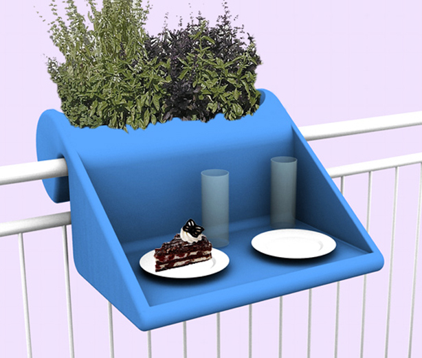 Www Urbangardensweb Com Over Railing Planter And Table For