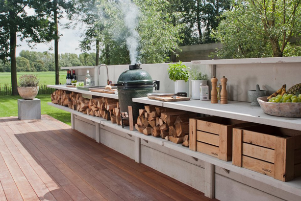 modular outdoor kitchen win a makeover with shower urban gardens wwoo bbq wood storage jpg