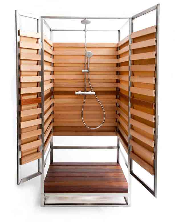 Stylish Outdoor Showers For Small Urban, Prefab Outdoor Shower Enclosures
