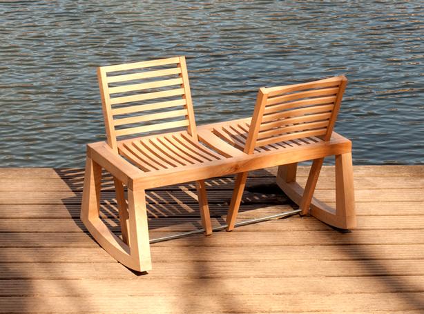 tete a chair outdoor rental new orleans contemporary chaise urban gardens de la chasie double bench water urbangardensweb