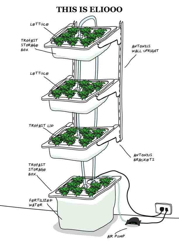 How To Build Indoor Hydroponic Gardens Using Ikea Storage Boxes Urban Gardens