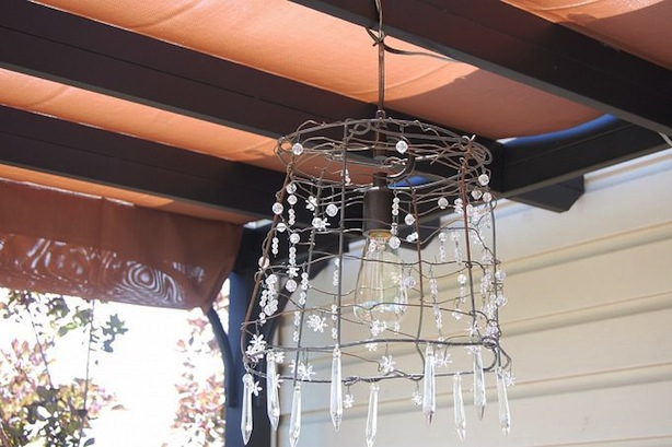 Tomato Cage Chandelier