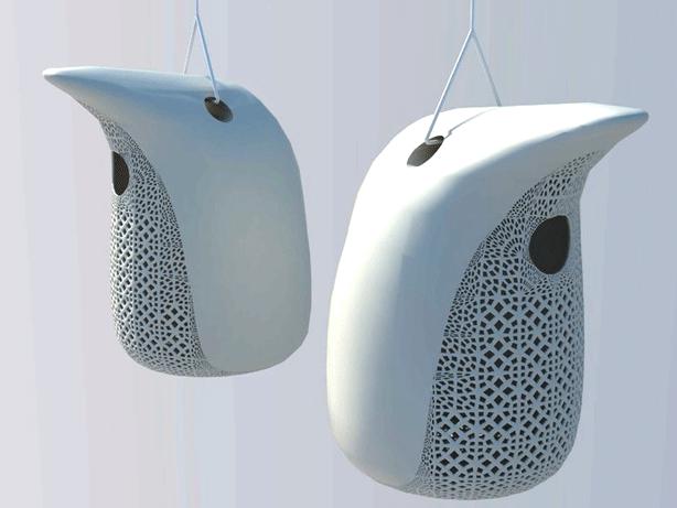 3d-printed-peng-contemporary-birdhouse-DIY-design-makerbot-thinkverse