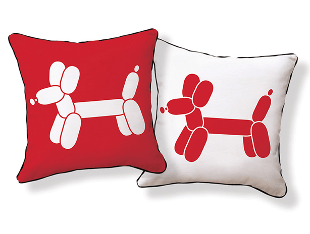 Naked Decor Doxie Red Balloon Dog Pillow Allmodern