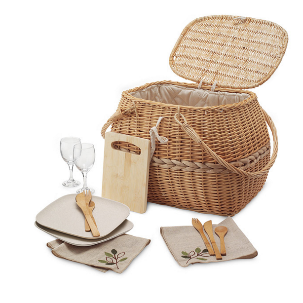 natural picnic basket
