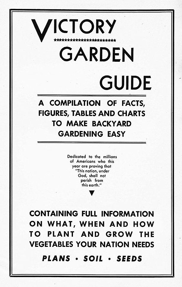 Wartime Victory Garden How-to Garden Manual