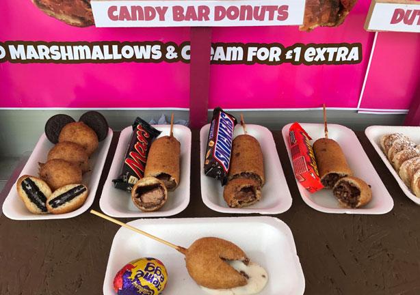 Candy bar donuts at London's Camden Market.