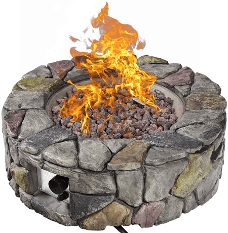 STONE GAS FIRE PIT FOR PATIO