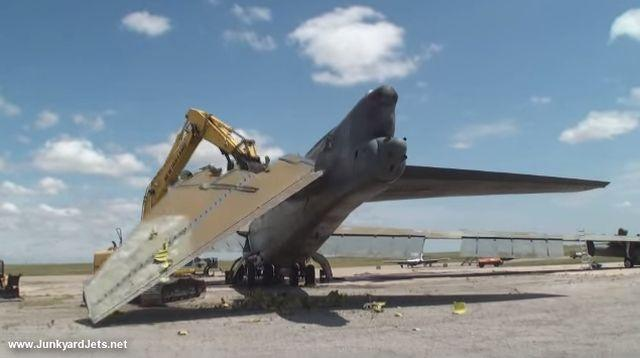 VIDEO: Scrapping a Mighty B-52 Bomber in Texas - Urban Ghosts Media