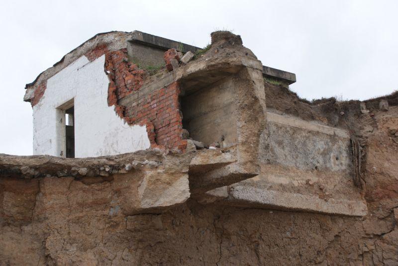 Ruined Fort Godwin Artillery Battery Kilnsea East