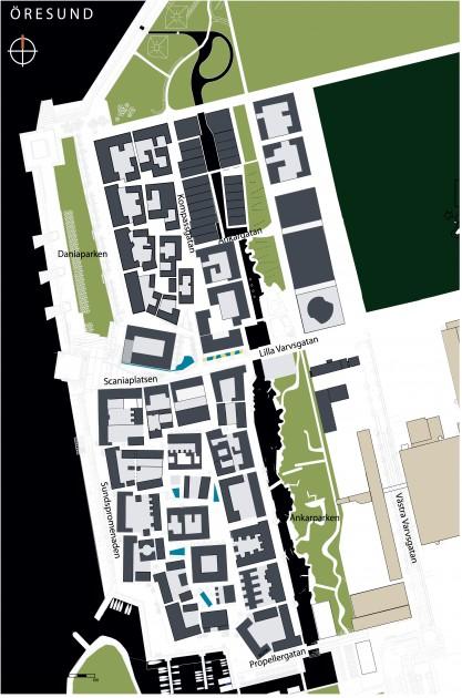 Bo01 Malm Sweden  Urban greenblue grids