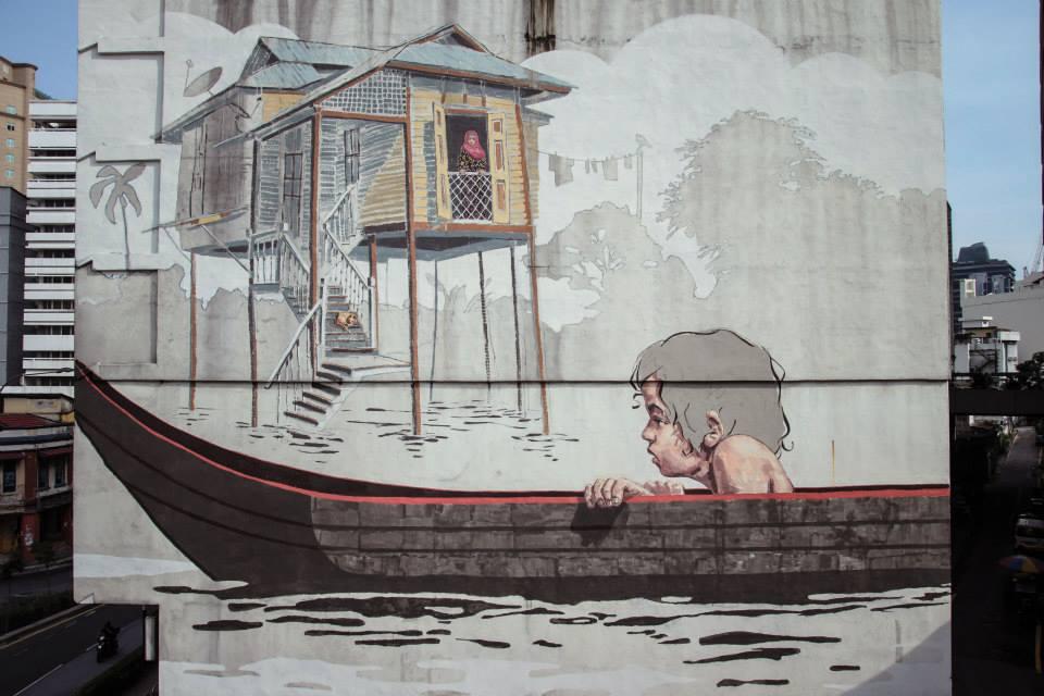 Ernest Zacharevic New Mural In Kuala Lumpur Malaysia