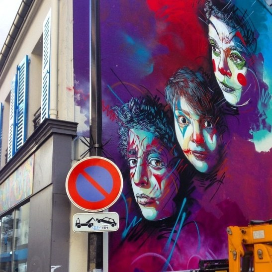 New wall in Paris, work in progress #c215 #paris