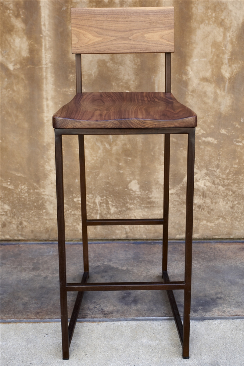 chair stools height large chaise lounge wood metal counter or barstool urban kitchen shop