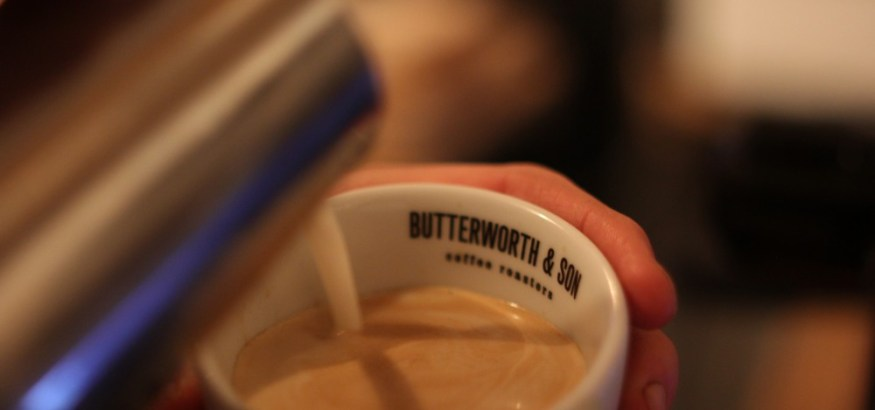 Coffee served with a larder love