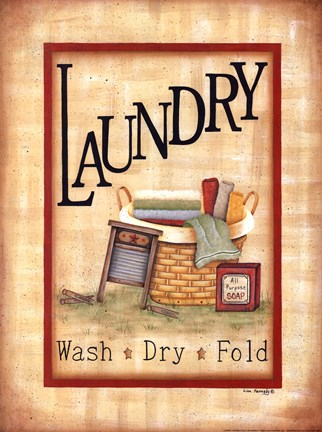 Laundry FineArt Print by Lisa Kennedy at UrbanLoftArtcom