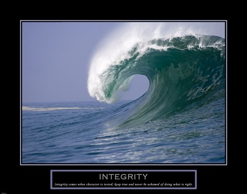 Integrity  Wave FineArt Print by Unknown at UrbanLoftArtcom