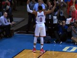 Russell Westbrook Scores and Assists on 20 Straight Points for OKC