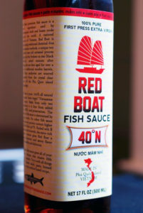 Red Boat, the King of fish sauce.