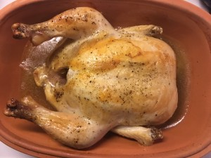 Clay cooker roast chicken