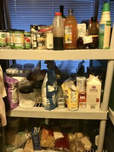Pantry is for bulk storage of staples.