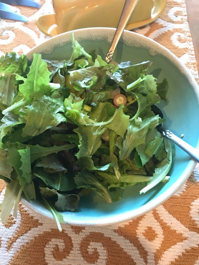Simple salad with real lettuce - A whole 'nuther animal